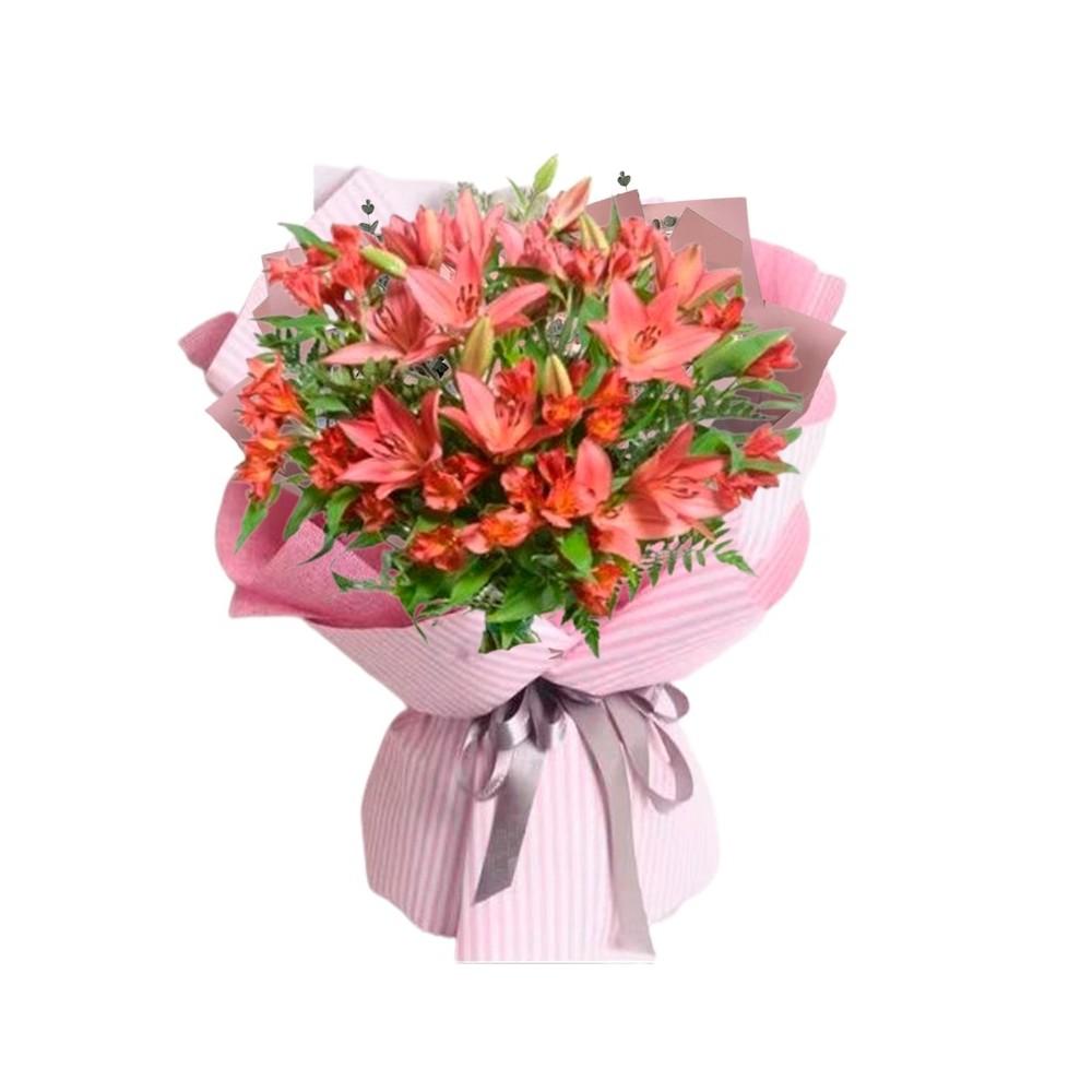 Ramo de 10 Varas de Liliums Color Rojo