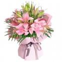 Ramo de 10 Varas de Liliums Color Rosado
